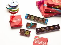 Open chocolate boxes